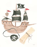 Pirates IV on White Fine Art Print