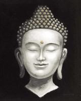 Serene Buddha II White Gold Fine Art Print