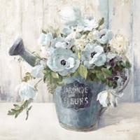 Garden Blooms II Blue Crop Fine Art Print