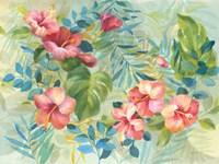 Hibiscus Garden Fine Art Print