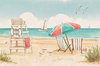 Beach Time I Fine Art Print
