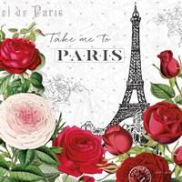 Rouge Paris III Fine Art Print