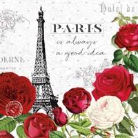 Rouge Paris II Fine Art Print