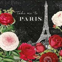 Rouge Paris III Black Fine Art Print