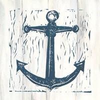 Nautical Collage III On White Wood Fine Art Print