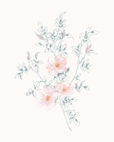 Flowers on White II Contemporary Fine Art Print