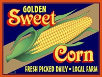 Sweet Corn Crate Label Fine Art Print