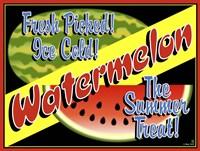 Watermelon Crate Label Fine Art Print