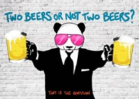 Two Beers or Not Two Beers Fine Art Print