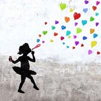 Love Bubbles (detail) Fine Art Print