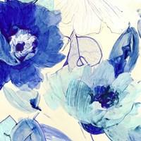 Toile Fleurs II Fine Art Print