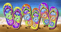 Tropical Flip Flops Fine Art Print