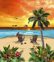 Tropical Island Sunset Fine Art Print
