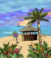 Tropical Island Tiki Hut Fine Art Print