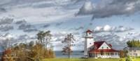 Autumn Lakeside Getaway Fine Art Print