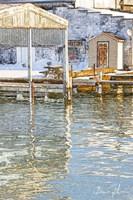 Docks In The Winter Fine Art Print