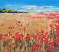 Corn and Poppies III Fine Art Print