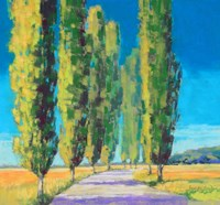 Poplars Normandy II Fine Art Print