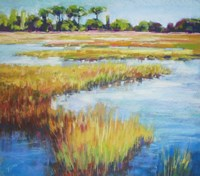 Early Fall Marsh Fine Art Print