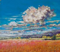 Summer Clouds over Cornfield Fine Art Print