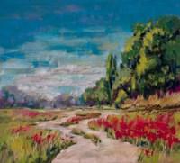 Poppy Path II Fine Art Print