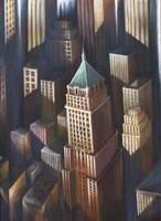 Summer Light On Buildings Fine Art Print