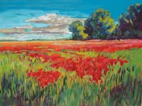 Countryside Poppies Fine Art Print