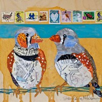 Zebra Finch Lovebirds #4 Fine Art Print
