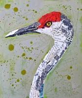 Red Head Heron Fine Art Print