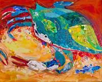 Blue Crab Triptych 3 Fine Art Print