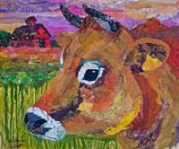 Jersey Cow Guy Fine Art Print