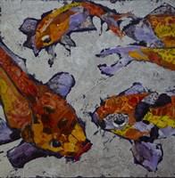 Tangeringe Koi on Lavender Fine Art Print