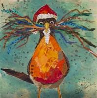 Curious Santa Bird Fine Art Print