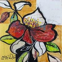 Red Floral Study Fine Art Print