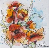 Watercolor Poppies 2 Fine Art Print