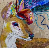 Floral Deer Fine Art Print
