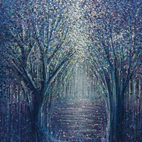 Autumn Trees At Twilight Fine Art Print