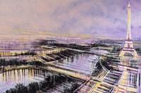 Paris At Sunset Fine Art Print