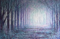 A Light In The Forest Fine Art Print