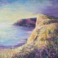 Coastal Cliffs At Sunset Fine Art Print
