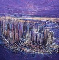 Manhattan At Sunset Fine Art Print