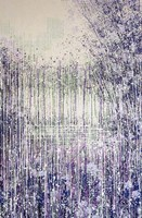 Winter in Violet, Sage and White Fine Art Print