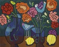 Patterned Roses Fine Art Print