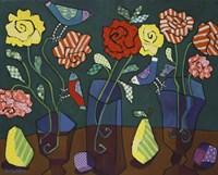 More Patterned Roses Fine Art Print