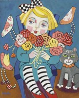 Flower Girl with Friends Fine Art Print