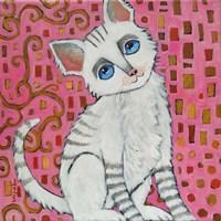 Klimt Kitty Fine Art Print