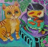Le Chat De Matisse Fine Art Print
