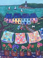 More Cottages and Quilts Fine Art Print