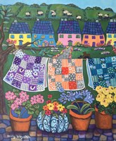Cottages Quilts and Sheep Fine Art Print