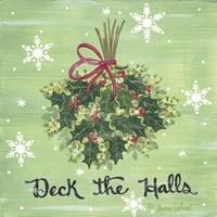 Deck the Halls Holly Fine Art Print